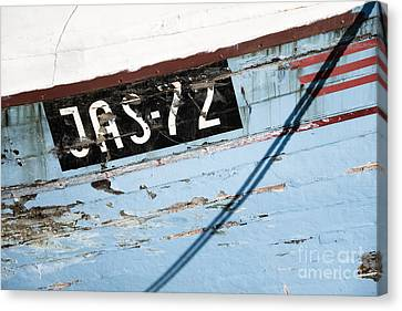 Canvas Print featuring the photograph Ships' Number by Agnieszka Kubica
