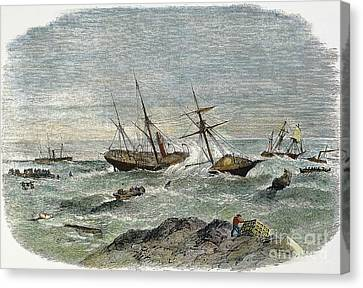 Shipwreck, 19th Century Canvas Print by Granger