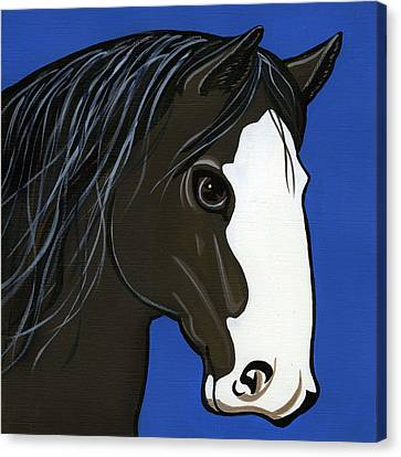 Bay Horse Canvas Print - Shire by Leanne Wilkes