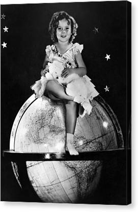 Shirley Temple, Fox Film Portrait, Ca Canvas Print by Everett