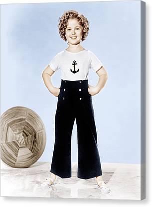 Shirley Temple, Studio Portrait, Ca Canvas Print by Everett