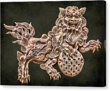 Shisa Canvas Print by Karen Walzer