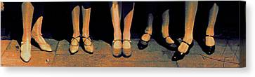 Shoe Parade Canvas Print by Li   van Saathoff