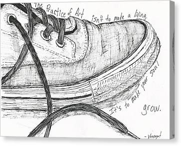 Shoe Canvas Print by William Cauthern
