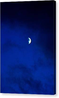 Canvas Print featuring the photograph Shoot The Moon by Randall  Cogle