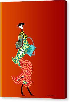 Shopper Canvas Print by Asok Mukhopadhyay
