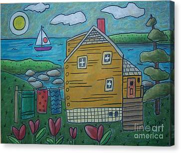 Shore Cottage Canvas Print by Karla Gerard