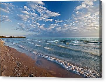 Shoreline Of Lake Ontario, Sandbanks Canvas Print