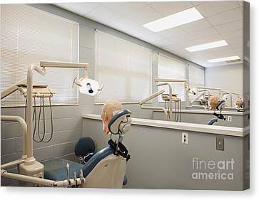 Shot Of Room In Dental School Canvas Print by Skip Nall