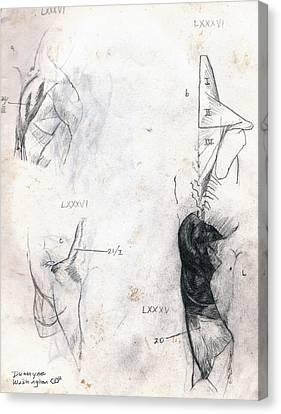 Shoulder Lxxxiv Canvas Print by Duwayne Washington