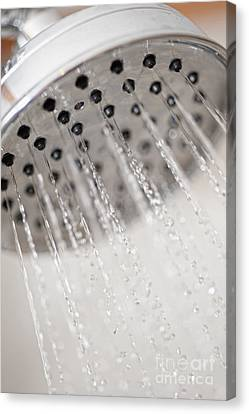 Shower Head Canvas Print by Andre Babiak