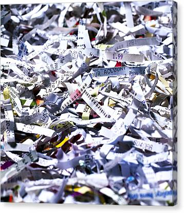 Shredded Documents Canvas Print by Kevin Curtis
