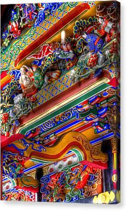 Canvas Print featuring the photograph Shrine-3 by Tad Kanazaki