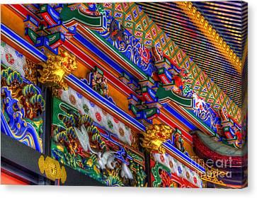 Canvas Print featuring the photograph Shrine-5 by Tad Kanazaki
