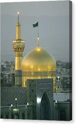 Shrine Of Imam Reza,  Eighth Shiite Canvas Print by Martin Gray