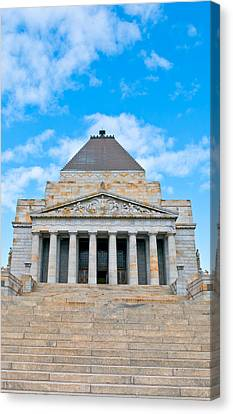 Shrine Of Rememberence Canvas Print by Paul Donohoe