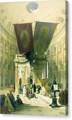 Shrine Of The Holy Sepulchre April 10th 1839 Canvas Print by Munir Alawi