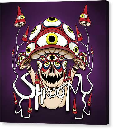 Shrooms Canvas Print - Shroom by Adam Spencer
