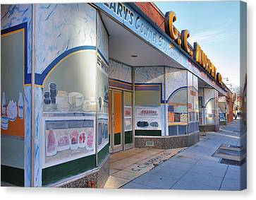 Shuttered Food Store Canvas Print by Steven Ainsworth