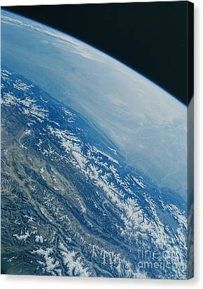 Shuttle Image Of Greater Himalyas Canvas Print