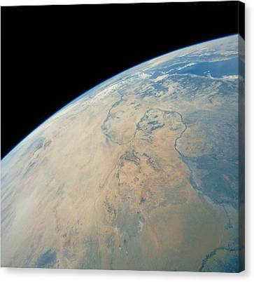 Shuttle Photograph Of Northern Sudan Canvas Print by Nasa