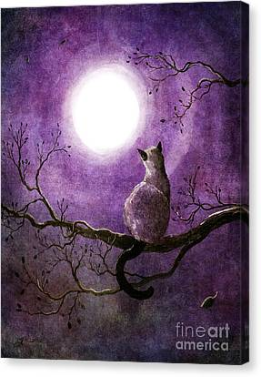 Siamese Cat Dreaming Of Autumn Canvas Print