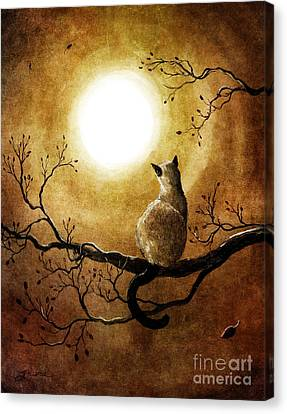 Siamese Cat In Timeless Autumn Canvas Print