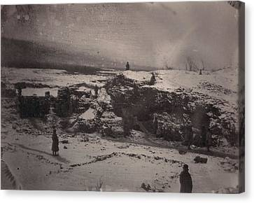 Siberia, Prison Guards Surrounding Canvas Print by Everett