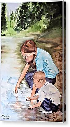 Siblings Canvas Print by Myrna Migala