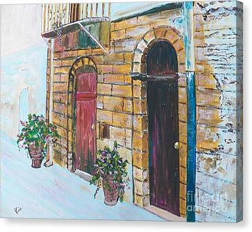 Sicilian Home Canvas Print by Judy Via-Wolff