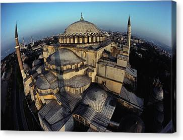 Side Domes And Minarets Gather Canvas Print by James L. Stanfield