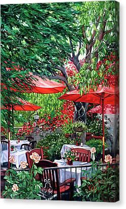 Sidewalk Cafe Canvas Print by Lisa Reinhardt