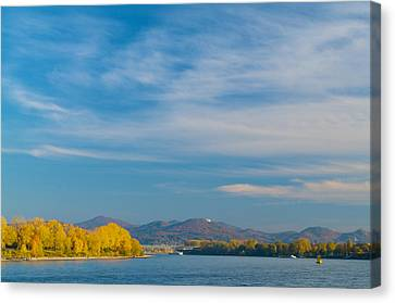 Siebengebirge Seen From Bonn Canvas Print by Matthias Siewert