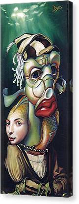 Canvas Print - Siegfried And Koi by Patrick Anthony Pierson