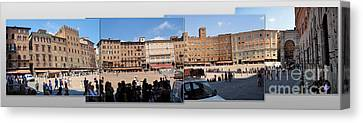 Siena Italy - Piazza Del Campo Canvas Print by Gregory Dyer