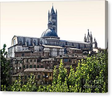 Siena Italy - Siena Cathedral -02 Canvas Print by Gregory Dyer