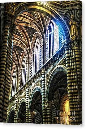 Siena Italy - Siena Catheral Canvas Print by Gregory Dyer