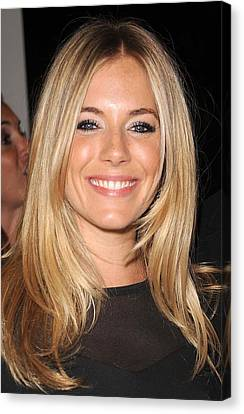 Sienna Miller, At Intermix At In-store Canvas Print by Everett