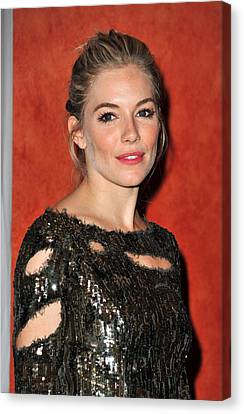 Opening Night Canvas Print - Sienna Miller Wearing A Balmain Dress by Everett