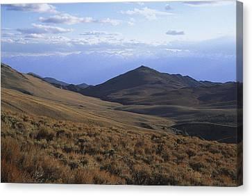 Sierra Escarpment From Whites Canvas Print