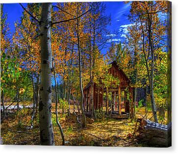 Sierra Nevada Fall Colors Barn Canvas Print by Scott McGuire
