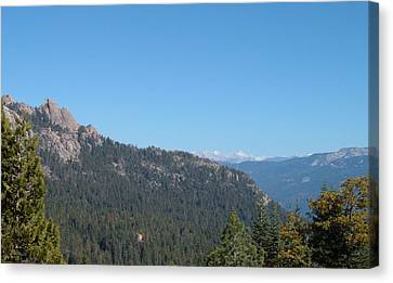 Sierra Nevada Mountains 3 Canvas Print by Naxart Studio