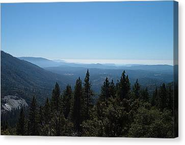 Sierra Nevada Mountains Canvas Print by Naxart Studio