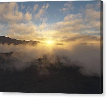 Sierra Sunrise Canvas Print by Mark Greenberg