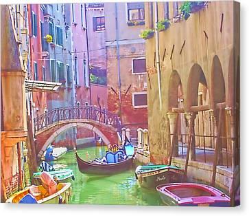 Siesta Time In Venice Canvas Print
