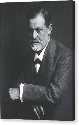 Sigmund Freud 1856-1939, With Arms Canvas Print by Everett