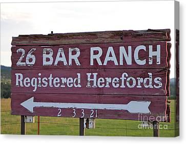 Sign Of John Waynes Old Ranch Canvas Print