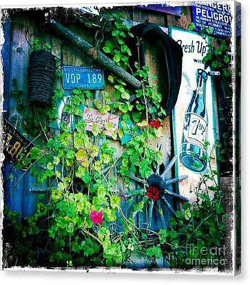 Canvas Print featuring the photograph Sign Wall by Nina Prommer