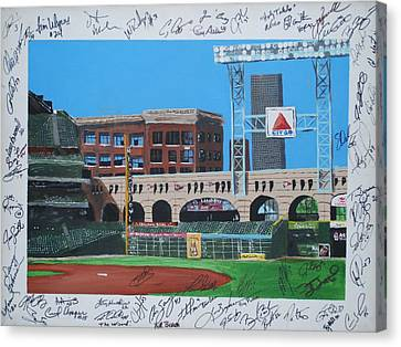Signed Minute Maid Canvas Print by Leo Artist