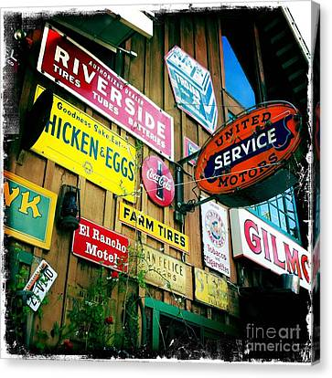 Canvas Print featuring the photograph Signs Of A Great Place by Nina Prommer